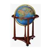 16in Replogle Lafayette Blue Illuminated Floor Globe - CRP1275