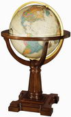 20in Replogle Annapolis Deluxe Antique Illuminated Floor Globe - CRP1281