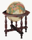20in Replogle Statesman Deluxe Antique Illuminated Floor Globe - CRP1284
