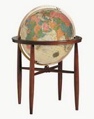 20in Replogle Finley Deluxe Antique Illuminated Floor Globe - CRP1287