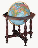 20in Replogle Statesman Deluxe Blue Illuminated Floor Globe - CRP1290