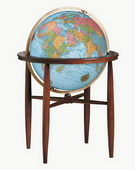 20in Replogle Blue Illuminated Floor Globe - CRP1293