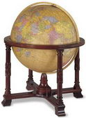 32in Replogle Diplomat Deluxe Antique Illuminated Floor Globe - CRP1296