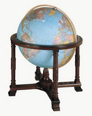 32in Replogle Diplomat Deluxe Blue Illuminated Floor Globe - CRP1299