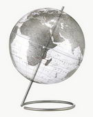 12in Replogle Marquise Crystal Transparent Sliver Desk Globe - CRP1308