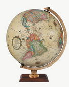 12in Replogle Carlyle Deluxe Illuminated Antique Desk Globe - CRP1326