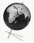 12in Replogle Mikado Slate Gray Desk Globe - CRP1329