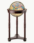 12in Replogle Lancaster Antique Illuminated Floor Globe - CRP1341