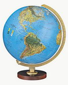 12in Replogle Livingston Illuminated Blue Desk Globe - CRP1344