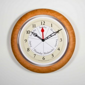 15in Contemporary Day Clock in Maple - DAY5328