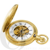 Charles Hubert Paris Gold-Plated Demi Hunter Case Mechanical Pocket Watch - DCH5310