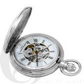 Charles Hubert Paris Chrome Mechanical Pocket Watch - DCH5313