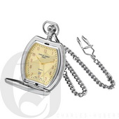 Charles Hubert Paris Two-Tone Hunter Case Quartz Pocket Watch - DCH5343