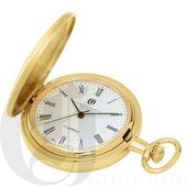 Charles Hubert Paris Gold-Plated Hunter Case Mechanical Pocket Watch - DCH5373