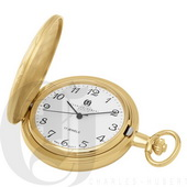 Charles Hubert Paris Gold-Plated Hunter Case Mechanical Pocket Watch - DCH5376
