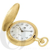 Charles Hubert Paris Gold-Plated Hunter Case Mechanical Pocket Watch - DCH5379