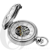 Charles Hubert Paris Hunter Case Picture Frame Mechanical Pocket Watch - DCH5388