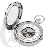 Charles Hubert Paris Polished Finish Hunter Case Picture Frame Mechanical Pocket Watch - DCH5394