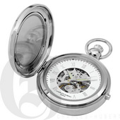 Charles Hubert Paris Polished Finish Hunter Case Picture Frame Mechanical Pocket Watch - DCH5397