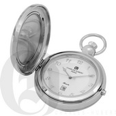 Charles Hubert Paris Polished Finish Hunter Case Picture Frame Quartz Pocket Watch - DCH5400