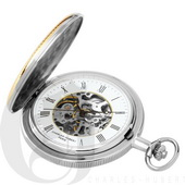 Charles Hubert Paris Two-Tone Hunter Case Mechanical Pocket Watch - DCH5403