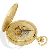 Charles Hubert Paris Gold-Plated Hunter Case Mechanical Pocket Watch - DCH5409