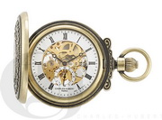 Charles Hubert Paris Gold-Plated Antiqued Finish Hunter Case Mechanical Pocket Watch - DCH5424