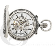 Charles Hubert Paris Antiqued Finish Hunter Case Mechanical Pocket Watch - DCH5427
