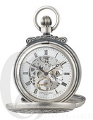 Charles Hubert Paris Antiqued Finish Double Hunter Case Mechanical Pocket Watch - DCH5433