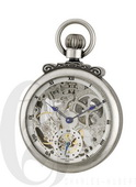 Charles Hubert Paris Antiqued Finish Open Face Mechanical Pocket Watch - DCH5451