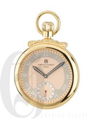 Charles Hubert Paris Gold-Plated Polished Finish Open Face Mechanical Pocket Watch - DCH5454