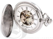 Charles Hubert Paris Stainless Steel Hunter Case Mechanical Pocket Watch - DCH5463