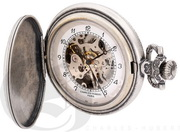 Charles Hubert Paris Antique Chrome Finish Hunter Case Mechanical Pocket Watch - DCH5469