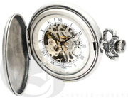Charles Hubert Paris Antique Chrome Finish Hunter Case Mechanical Pocket Watch - DCH5472