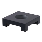 Square Wood Base for 4.5in MOVA Globes in Black - EMV9002
