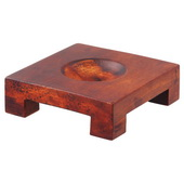 Square Wood Base for 4.5in MOVA Globes in Natural Wood Finish - EMV9000