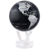 4.5in Dia MOVA Globe - Silver/Black Metallic