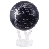 4.5in Dia MOVA Globe - Constellations Silver/Black