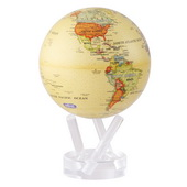 6in Dia MOVA Globe - Antiqued Beige