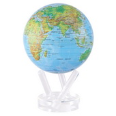 6in Dia MOVA Globe - Blue with Relief Map Gloss Finish