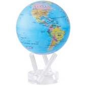 6in Dia MOVA Globe - Blue with Political Map