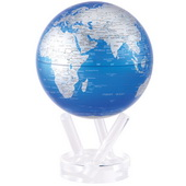 6in Dia MOVA Globe - Cobalt Blue and Silver