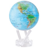 6in Dia MOVA Globe - Blue with Relief Map