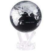 6in Dia MOVA Globe - Silver/Black Metallic