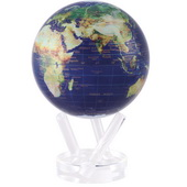 6in Dia MOVA Globe - Satellite View with Gold Lettering