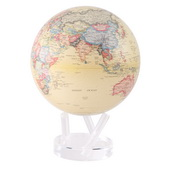 8.5in Dia MOVA Globe Antiqued Beige - EMV8000
