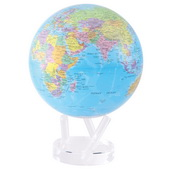 8.5in Dia MOVA Globe - Blue with Political Map