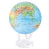 8.5in Dia MOVA Globe - Blue with Relief Map
