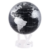 8.5in Dia MOVA Globe - Sliver Black Earth