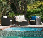 Vomo 4 Pieces Outdoor Wicker Conversation Set - FHM1030